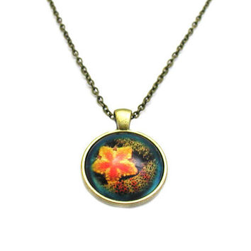 Starfish Necklace, Starfish Pendant, Charm Necklace, Charm Jewelry, Marine Life Jewelry, Ocean Jewelry, Coral Reef Necklace, Beach Necklace