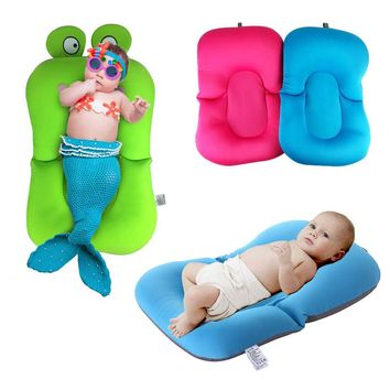 NewBorn Safety Security Bath Seat Support Infant Baby Bath Pad Non-Slip Bathtub Mat Baby Shower Portable Air Cushion Bed Infant