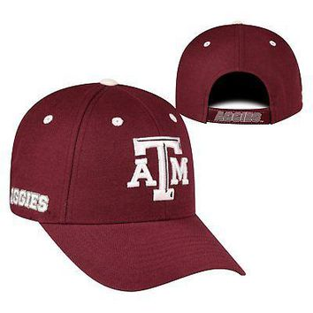 Licensed Texas A&M Aggies Official NCAA Adjustable Triple Threat Hat Cap Top of the World KO_19_1