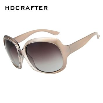 New Arrival Vintage Oversized Oval Gradient Lens Sexy Cool Retro Sunglasses for Women Excellent Material Polarized Sun Glasses