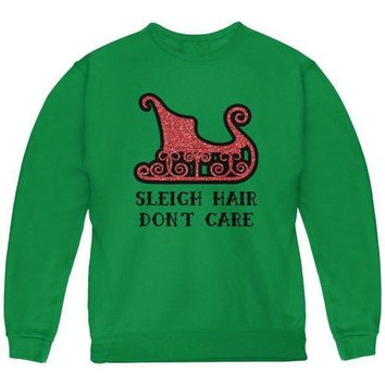 PEAPGQ9 Christmas Sleigh Hair Don't Care Youth Sweatshirt