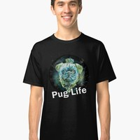 'Pug Life Dog watercolor digital Art ' T-Shirt by MNA-Art