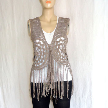 Free Crochet Pattern Lace Vest : Shop Crochet Vest Patterns on Wanelo