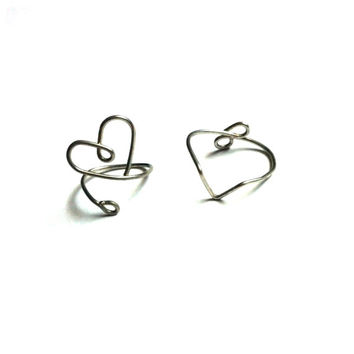 Silver Midi Rings Set of Two Knuckle Rings