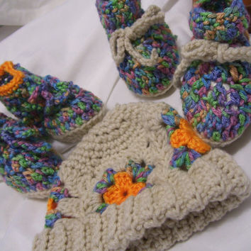 Baby Bundled Crochet Sets  Hat Poncho Vest and Shoes  Special Orders Available