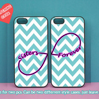 iphone 5C case,sisters forever,two pcs,iphone 5S case,iphone 5 case,iphone 4 case,ipod 4 case,ipod 5 case,Blackberry Z10 case,Q10 case