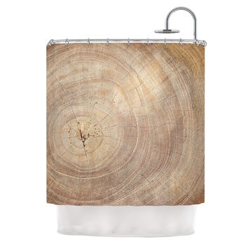 "Susan Sanders ""Aging Tree"" Wooden Shower Curtain"