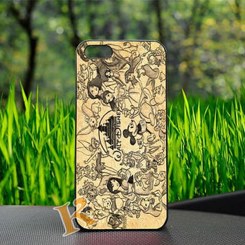 All Disney Character Drawing Design For iPhone Case, iPhone 4/4s,5/5s,5c, Samsung Galaxy S3 i9300,Galaxy S4 i9500 Case