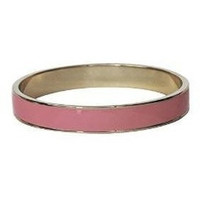 Enamel Bangle Bracelet 16k Gold Plated Pink