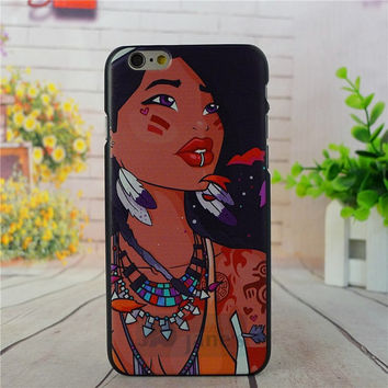 "Disney Pocahontas Tattooed cell phone case for iPhone 6  (4.7"" ) tribal luv"