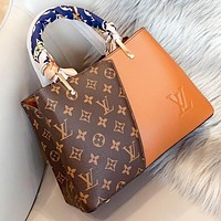 LV Louis vuitton  New fashion monogram print shoulder bag crossbody bag handbag Brown