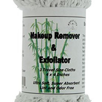 Makeup Remover and Exfoliator Bamboo Charcoal (3) Travel Size - 10 Pack