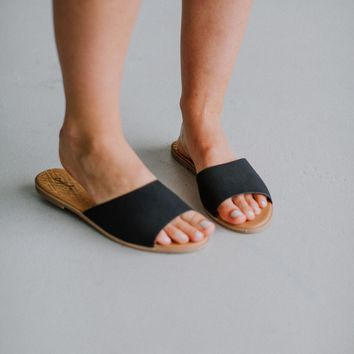 Gabi Slide Sandal - Black