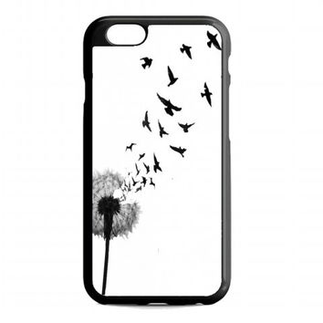 dandelion bird tattoo For iphone 6 case