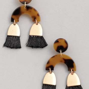 Arch Tassel Earrings