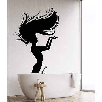 Vinyl Wall Decal Naked Girl Mermaid Nymph Art Decor For Bathroom Stickers Unique Gift (1258ig)