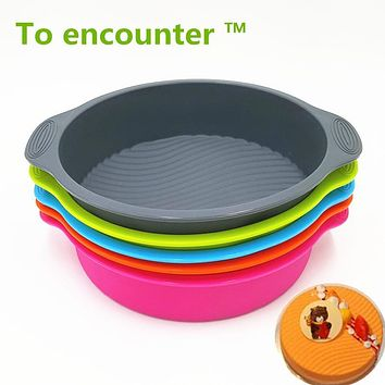 29*24.5*6CM 160G Big and Beautiful Round Shape 3D Silicone Cake Mold Baking Tools Bakeware Maker Mold Tray Baking Free Shipping