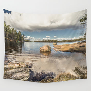 Dip my toes Wall Tapestry by HappyMelvin