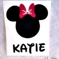 DISNEY MINNIE MOUSE car decal by SoPrep on Etsy