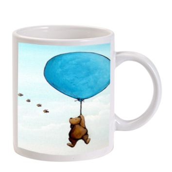 Gift Mugs | Winnie The Pooh Balloon Fly In Sky Ceramic Coffee Mugs