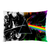 Pink Floyd Music Custom Pillow Case Rectangle Pillow by memedia