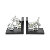 Retro Biker Bookends - Set of 2