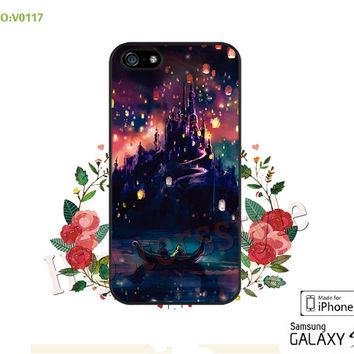 Disney, rapunzel Phone case iPhone 5/5S/5C Case, iPhone 4/4S Case,  Sky lantern, S3 S4 S5 Note 2 Note 3 Case for iPhone-B0117