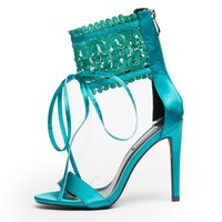 Cape Robbin Suzzy-88 Peacock Women's High Heel