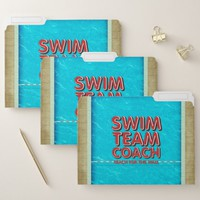 TOP Swim Coach File Folder