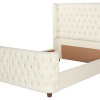 Aviary Tufted Bed, Cream, Wing Beds