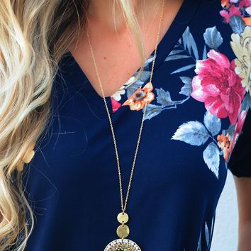 Only For You Necklace: Gold/Multi