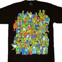 The Simpsons Glow in the Dark Homer Crowd T-shirt  - The Simpsons - | TV Store Online