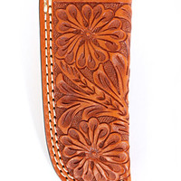 Cowboy Chrome® Knife Holder Floral Tooling