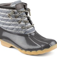 Sperry Top-Sider Saltwater Duck Boot GraphiteStripe, Size 5M  Women's Shoes