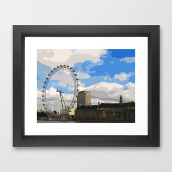 London Eye Framed Art Print by cycreation