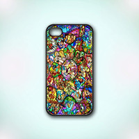 All Disney Heroes Stained Glass - Design Print for iPhone 4/4s Case or iPhone 5 Case - Black or White