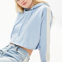 LA Hearts Striped Sleeve Cropped Hoodie at PacSun.com
