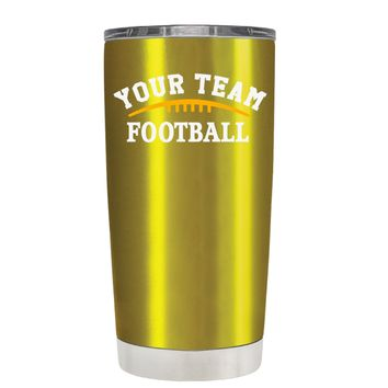 TREK Custom Football Team on Translucent Gold 20 oz Tumbler Cup