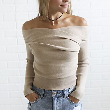 snuggle up cropped sweater