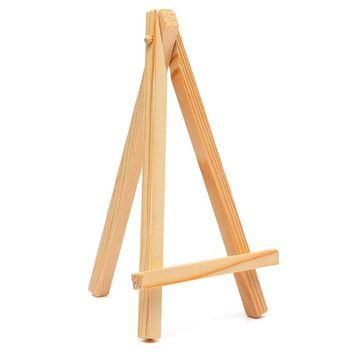 KiWarm 3pcs Mini Wood Artist Tripod Painting Easel DIY For Photo Painting Postcard Display Wedding Name Card Holder Desk Decor