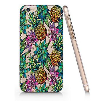 Tropical Fruit Summer Pineapples Pattern Slim Iphone 6 Plus 6S Plus Case, Clear Iphone 6 Plus 6S Plus Hard Cover Case For Apple Iphone 6 Plus/6S Plus -Emerishop (AH1335)