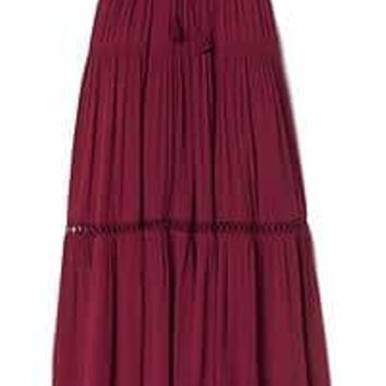 Tiered maxi skirt | Gap