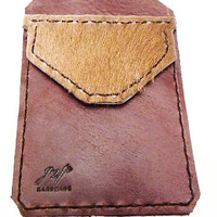 Brown  Leather Cowboy Pocket Protector sleeve small