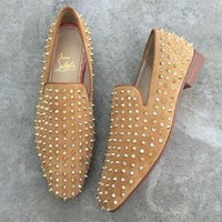 DCCK Cl Christian Louboutin Loafer Style #2351 Sneakers Fashion Shoes