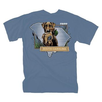 Dog & Duck South Carolina T-Shirt in Marine Blue by Fripp Outdoors