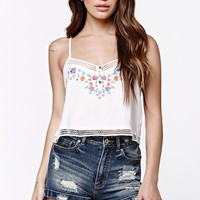 LA Hearts Embroidered Cropped Tank Top at PacSun.com