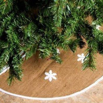 "Rustic Burlap 36"" Christmas Tree Skirt - 24 Units"