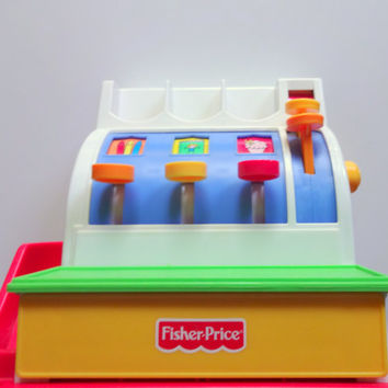 Vintage Fisher Price Cash Register Toy 1994
