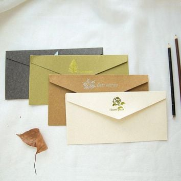High-grade gold western style restoring envelope set customized business invitation card creative love letters