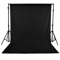 "Neewer® Black 6"" X 9""/1.8m X 2.8m Muslin Collapsible Background Photography, Video Backdrop, Television Background with 3.4"" Rod Pocket"